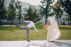 Dia do casamento em Budapest Fotografia de Stock