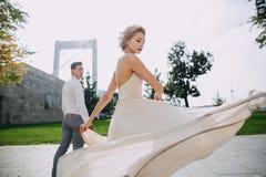 Dia do casamento em Budapest Fotos de Stock