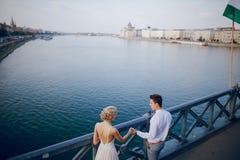 Dia do casamento em Budapest Fotografia de Stock Royalty Free
