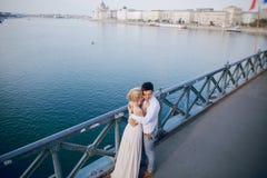 Dia do casamento em Budapest Foto de Stock
