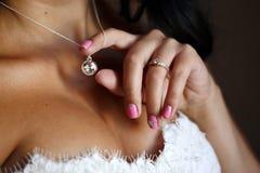 Dia do casamento esperado desde há muito tempo Fotografia de Stock