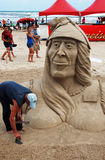 Dia do castelo da areia no console sul IV de Padre foto de stock royalty free
