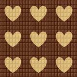 Dia do chocolate do mundo Teste padrão sem emenda com chocolate escuro branco e leitoso ilustração do vetor