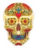 Dia do crânio da arte do paizinho ilustração do vetor
