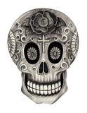 Dia do crânio da arte dos mortos Fotografia de Stock Royalty Free