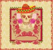 Dia do crânio e das flores dos mortos Foto de Stock Royalty Free