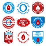 Dia do diabetes do mundo ilustração do vetor