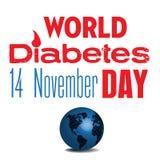Dia do diabetes do mundo ilustração stock
