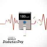 Dia do diabetes do mundo Fotografia de Stock Royalty Free