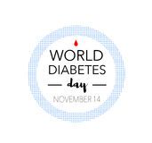Dia do diabetes do mundo, o 14 de novembro Fotografia de Stock Royalty Free