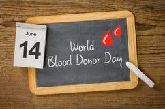 Dia do doador de sangue do mundo Imagens de Stock
