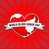 Dia do doador de sangue do mundo Ilustração do vetor para o feriado 14 de junho Imagens de Stock Royalty Free