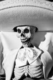 Dia do esqueleto musical inoperante fotografia de stock royalty free