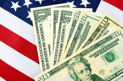 Dia do imposto dos EUA, o 15 de abril, ou dinheiro, economias e conceito da finança Imagens de Stock Royalty Free