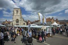 Dia do mercado - Malton - Yorkshire - Inglaterra Fotografia de Stock Royalty Free