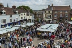 Dia do mercado - Malton - Yorkshire - Inglaterra Fotografia de Stock