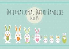 Dia do molde do cartão das famílias Imagens de Stock