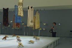 Dia do museu moscow Casa do fotógrafo humans imagens de stock