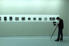 Dia do museu moscow Casa do fot?grafo humans fotos de stock