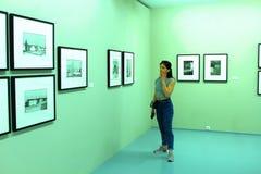 Dia do museu moscow Casa do fot?grafo humans imagens de stock royalty free