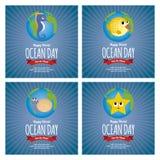 Dia do oceano do mundo Fotos de Stock Royalty Free