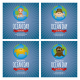 Dia do oceano do mundo Imagem de Stock Royalty Free