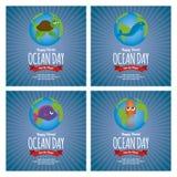 Dia do oceano do mundo Foto de Stock