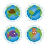 Dia do oceano do mundo Fotos de Stock