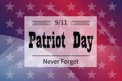 Dia do patriota da ilustração dos cumprimentos do feriado Foto de Stock