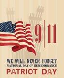 Dia do patriota, o 11 de setembro Fotos de Stock