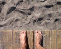 Dia do punho na praia Fotos de Stock Royalty Free