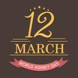 Dia do rim do mundo Imagens de Stock Royalty Free