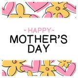 Dia do ` s da mãe da mensagem - dia feliz do ` s da mãe Imagens de Stock Royalty Free