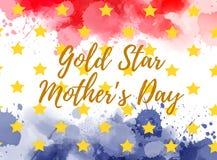 Dia do ` s da mãe de estrela de ouro ilustração do vetor