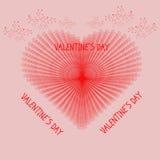 Dia do ` s do Valentim do cartão Fotografia de Stock Royalty Free