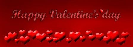 Dia do ` s do Valentim do cartão Fotos de Stock