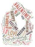Dia do `s do Valentim Eu te amo Pares Loving Coração Ilustração nas palavras Fotografia de Stock Royalty Free