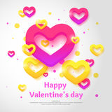 Dia do `s do Valentim Fevereiro 14 ilustração royalty free