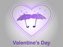 Dia do `s do Valentim Uma chuva do coração Fotos de Stock Royalty Free