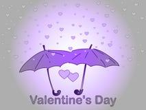Dia do `s do Valentim Uma chuva do coração Fotografia de Stock Royalty Free