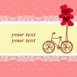 Dia do `s do Valentim Cartão para o dia do ` s do Valentim com um decorativo Imagens de Stock