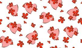 Dia do `s do Valentim Coração nas flores Ilustração do vetor fotografia de stock royalty free