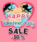 Dia do ` s do Valentim da venda ilustração stock