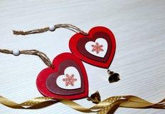 Dia do ` s do Valentim do St, amor, Natal, ano novo Dois coloridos Foto de Stock