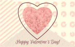 Dia do `s do Valentim Tampa e grupo macios florais coloridos abstratos de cartaz Bandeira do molde da ilustração do vetor Papel d Imagem de Stock Royalty Free