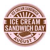 Dia do sanduíche do gelado ilustração stock