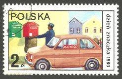 Dia do selo, recolhimento do correio fotografia de stock