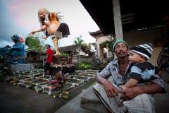 Dia do silêncio em Ubud, Bali, Indonésia Foto de Stock