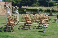 Dia do sol do casamento Fotos de Stock Royalty Free