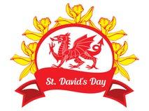 Dia do St Davids ilustração do vetor